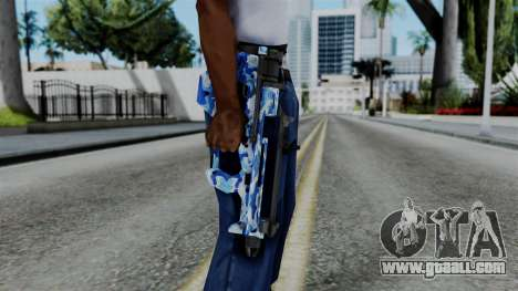 CoD Black Ops 2 - PDW-57 Camo Blue for GTA San Andreas third screenshot