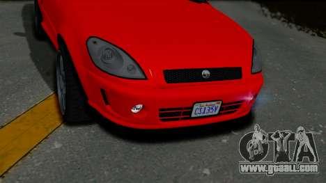 GTA 5 Declasse Premier Coupe IVF for GTA San Andreas back view