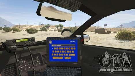GTA 5 FBI Ford CVPI back view