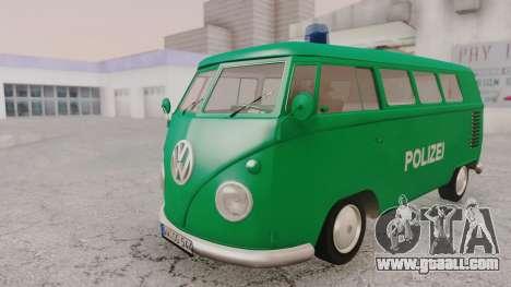 Volkswagen T1 Polizei for GTA San Andreas right view