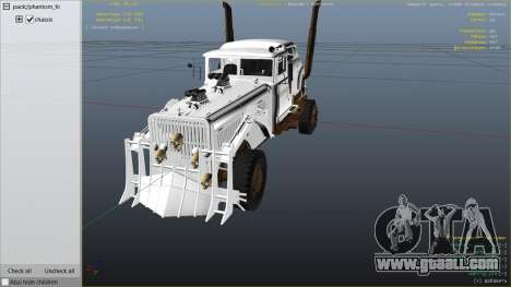 GTA 5 Mad Max The War Rig right side view