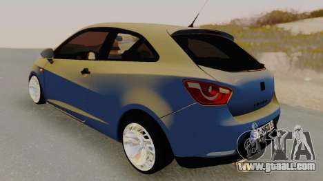 Seat Ibiza for GTA San Andreas back left view