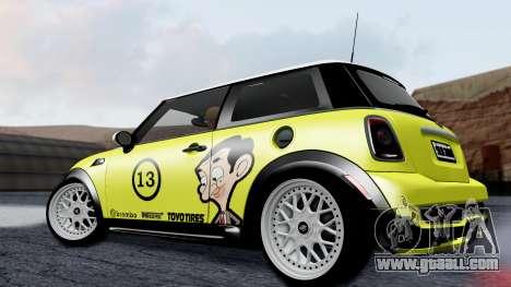 Mini John Cooper Works Mr.Bean for GTA San Andreas left view