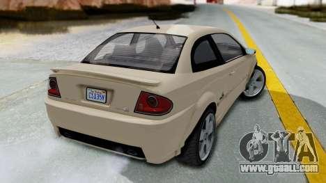 GTA 5 Declasse Premier IVF for GTA San Andreas left view