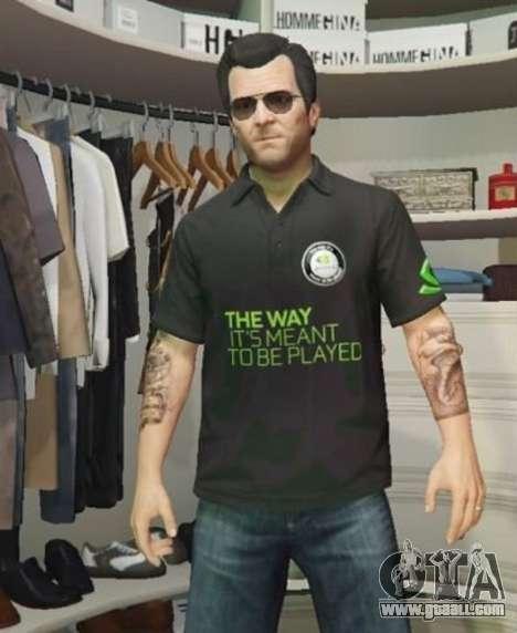 GTA 5 Nvidia Polo shirt for Michael third screenshot