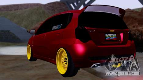 Chevrolet Aveo Stance for GTA San Andreas left view