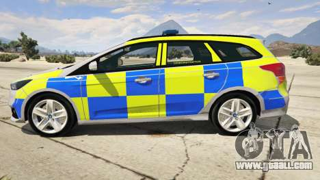 GTA 5 2015 Police Ford Focus ST Estate left side view