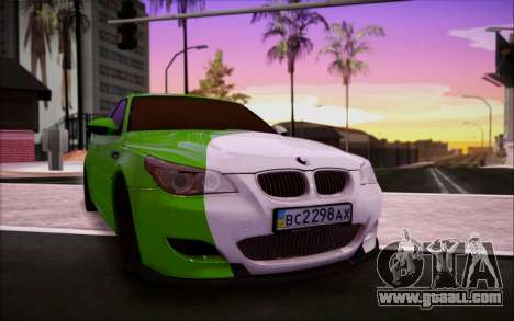 BMW m5 e60 Verdura for GTA San Andreas inner view