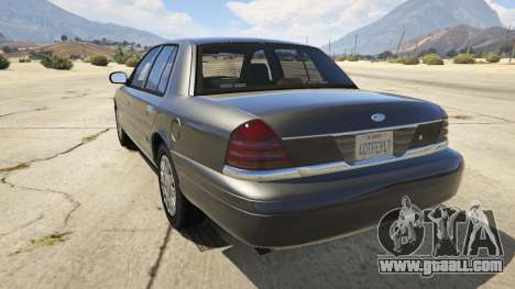 GTA 5 Ford Crown Victoria Detective rear left side view