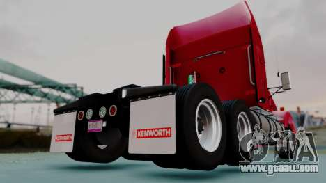 Kenworth T800 38s Austero Flat Top for GTA San Andreas back left view