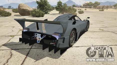 GTA 5 Pagani Zonda R v1.0 rear left side view