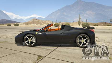 GTA 5 Ferrari 458 Mansory Siracusa Monaco Edition left side view