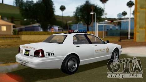 GTA 5 Vapid Stanier II Sheriff Cruiser for GTA San Andreas left view