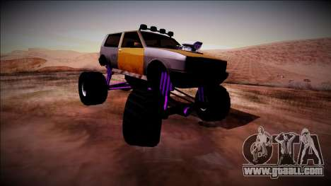 Club Monster Truck for GTA San Andreas back left view