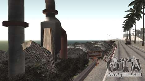 Road repair Los Santos - Las Venturas for GTA San Andreas third screenshot