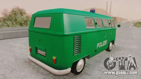 Volkswagen T1 Polizei for GTA San Andreas left view