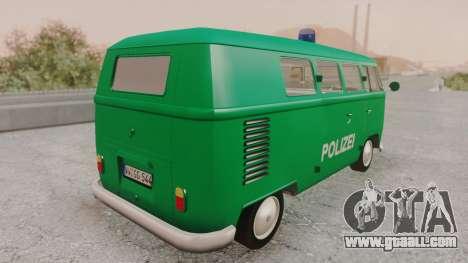 Volkswagen T1 Polizei for GTA San Andreas left view