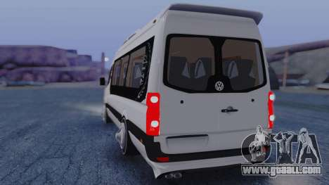 Volkswagen Crafter 2015 for GTA San Andreas back left view