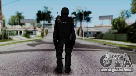 Black SWAT for GTA San Andreas third screenshot