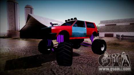 Club Monster Truck for GTA San Andreas side view