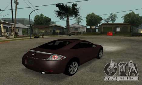 Mitsubishi Eclipse GT for GTA San Andreas back left view