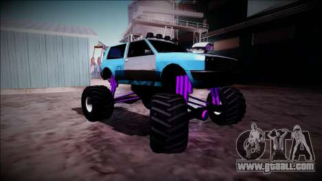 Club Monster Truck for GTA San Andreas back view