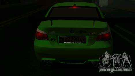 BMW m5 e60 Verdura for GTA San Andreas right view
