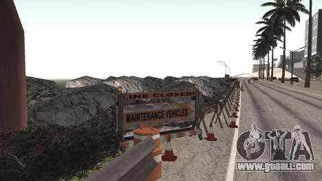 Road repair Los Santos - Las Venturas for GTA San Andreas fifth screenshot