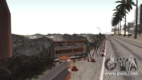 Road repair Los Santos - Las Venturas for GTA San Andreas fifth screenshot