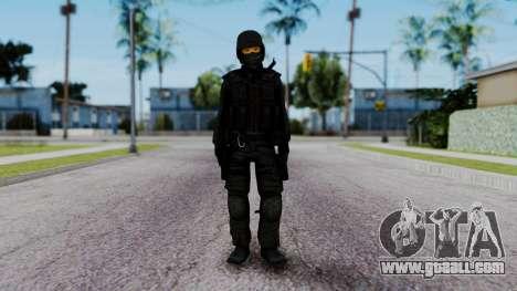 Black SWAT for GTA San Andreas second screenshot