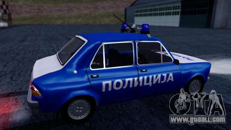 Zastava 101 Policija for GTA San Andreas back left view
