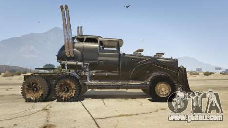 GTA 5 Mad Max The War Rig left side view