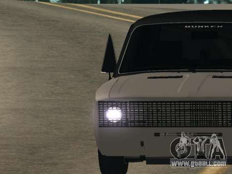 VAZ 2106 BUNKER for GTA San Andreas back left view