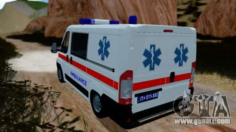 Fiat Ducato Serbian Ambulance for GTA San Andreas left view