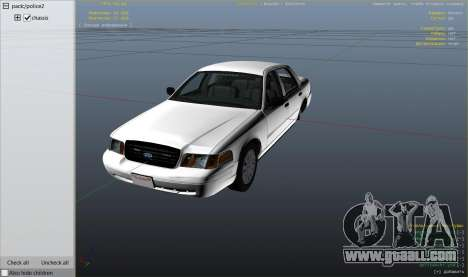 GTA 5 Ford Crown Victoria Detective right side view
