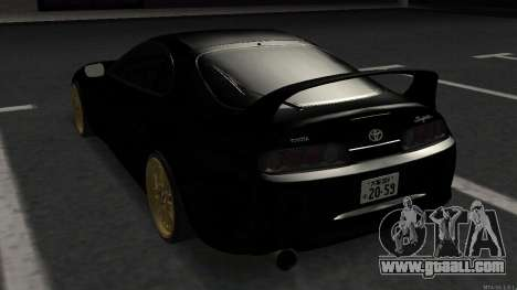 Toyota Supra Mid Night for GTA San Andreas back left view