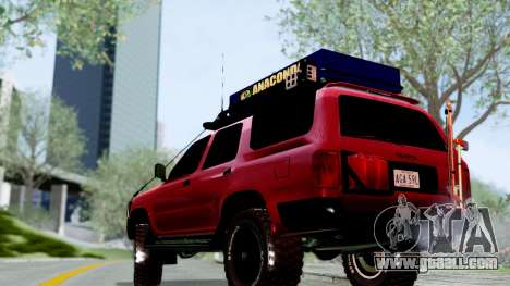 Toyota 4Runner 1995 Offroad for GTA San Andreas back left view