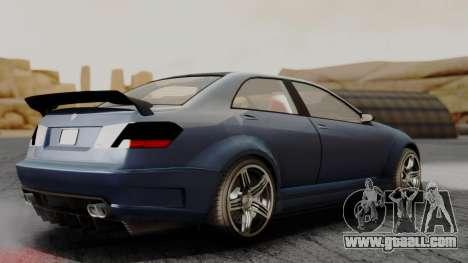 GTA 5 Benefactor Schafter V12 for GTA San Andreas back left view