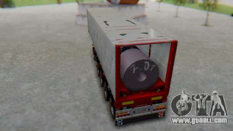 Trailer Colis Red for GTA San Andreas back left view
