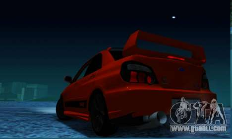 Subaru Impreza WRX STi LP 400 for GTA San Andreas left view