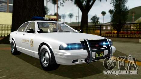 GTA 5 Vapid Stanier II Sheriff Cruiser for GTA San Andreas