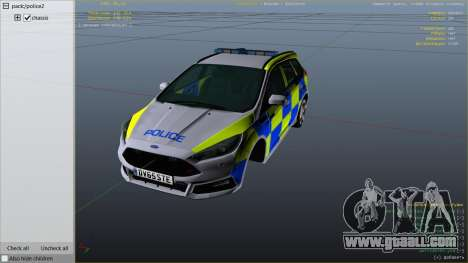 GTA 5 2015 Police Ford Focus ST Estate right side view