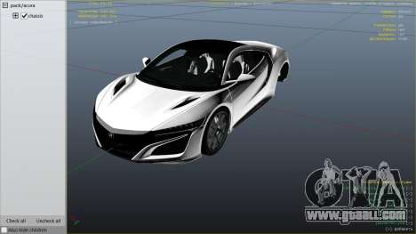 GTA 5 Acura NSX 2015 right side view