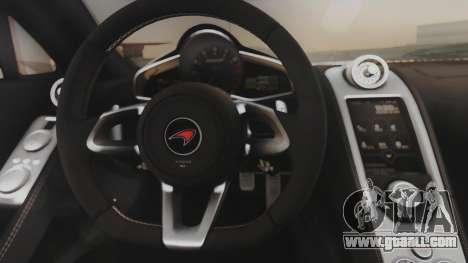 McLaren 650S Coupe Liberty Walk for GTA San Andreas inner view