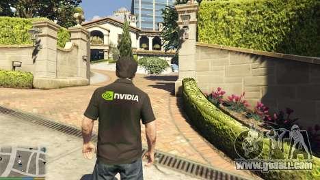GTA 5 Nvidia Polo shirt for Michael second screenshot
