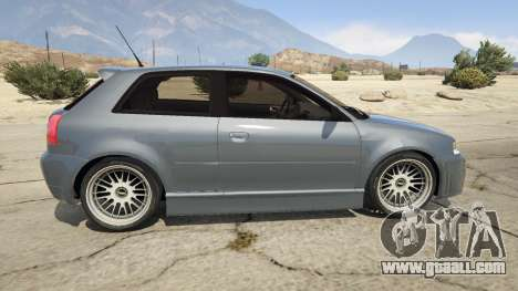 GTA 5 Audi A3 1999 Sport Edition left side view