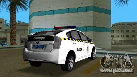 Toyota Prius Police Of Ukraine for GTA Vice City back left view