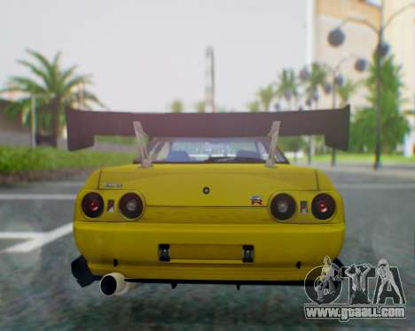 Nissan Skyline R32 GTR for GTA San Andreas back left view