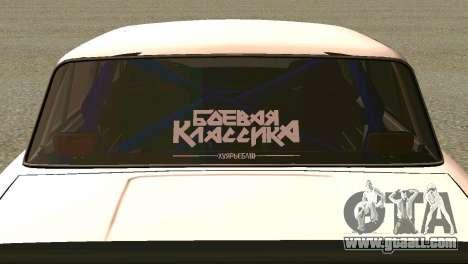 VAZ 2101 BC for GTA San Andreas back view