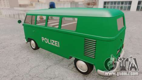 Volkswagen T1 Polizei for GTA San Andreas back left view